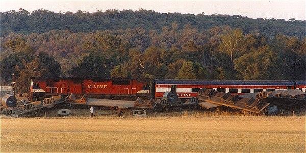 VICSIG - Interstate - Steel Train Derailment and Passenger